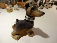 Vintage Artesania Rinconada Ceramic Doberman Pinscher#111 Made in Uruguay As Is