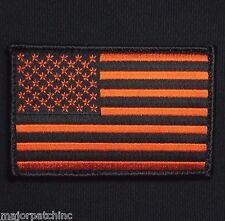 USA UNITED STATES AMERICAN FLAG UNIFORM BLACK OPS ORANGE VELCRO® BRAND PATCH