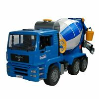 MAN TGA cement mixed truck and accessories, blue