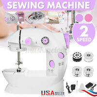 US Mini Sewing Machine 12 Stitches Portable Electric Foot Pedal Home Crafting