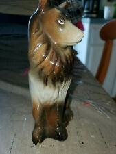 Handcrafted Collectibles Ceramic Collie Dog 7in.