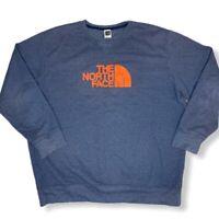The North Face Blue CrewNeck Sweatshirt Men's Size 2XL
