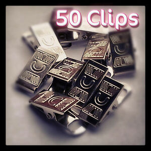 Dummy Clips Metal Badge Clips Craft Dummy Clip Strap Packs of 50