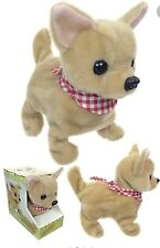 Battery Operated Chi Chi Dog Chihuahua Plush Toy Animal Barking Walking Kids Toy
