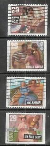 BROADWAY MUSICALS #2767-2770 Used US 1993 Commemorative 29c Stamp Set