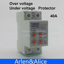 40A reconnect over and under voltage protective relay with adjustable button