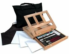 Watercolor Easel Art Set with Easy to Store Bag And Storage Box, Traveling Art