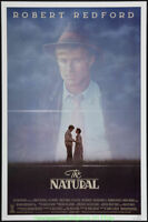 THE NATURAL MOVIE POSTER Original 27x41 Folded Style A ROBERT REDFORD BASEBALL