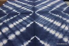 Hand-Dyed, Shibori Fabric. India, Cotton Bandhani. Indigo Blue 5 yards NDHER