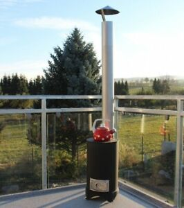 "Outdoor Gartenkamin Terrassenofen ""GUSTAV ECO""- Allesbrenner Holz*Kohle*Säges..."