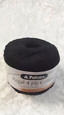 Patons Regal Cotton 4 Ply #310 Black 50g