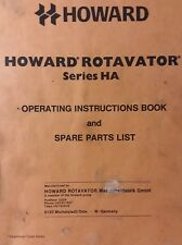 Howard HA Rotavator Tiller 3-Point Hitch Owner, Parts & Service Manual Tractor