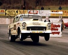 """55' Chevy Gasser """"Rapid Rodent"""" Wheel Stand Drag Racing 16""""x 20"""" Poster Photo 64"""