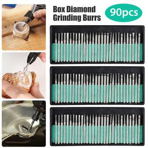 Diamond Burr Bits Drill Set Rotary Multi Tool Accessories Kit For Dremel