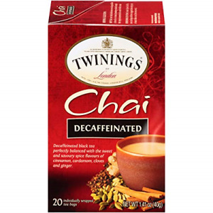 Twinings Tea Chai Tea, Decaf, 20 ct
