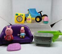 Peppa Pig Figures Toys Peppa Bundle Joblot Go Kart Furniture RD
