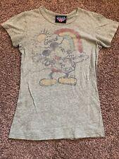 Junk Food Women's Mickey Mouse Good Times Tshirt, Slim Vintage Medium