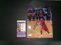 BRANDON KNIGHT HIGH SCHOOL SIGNED 8X10 PHOTO W/JSA COA NBA DETROIT PISTONS