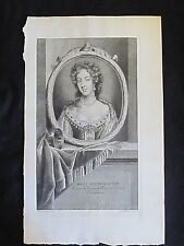 Marie Eleonor d'Este par Van der Werff, grav. Audran XVIIe S.
