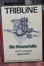 """Tribüne Berlin Präsentiert Agatha Christie's """"die Mausefalle"""" Ausstellungsplakat"""