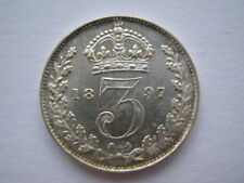 1897 Veiled Head silver Threepence GEF