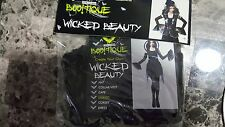 New Womens Totally Ghoul Boo!tique Wicked Beautyy Halloween Black Sleeves