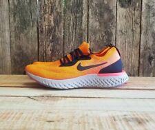 Nike Epic React Flyknit 2 Shoes Orange Black Grey AQ0067 800 Men's Size 12.5