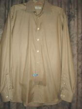 ETON Mens Dress Shirt Contemporary Fit 41/16 Beige Spread Collar VGC