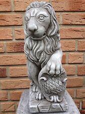 Steinfigur Löwe Garten Deko Gartenfiguren Tierfiguren Steinguss  Frotfest