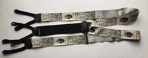 Ferrell Reed Silk Suspender Black And  White Music Theme suspender