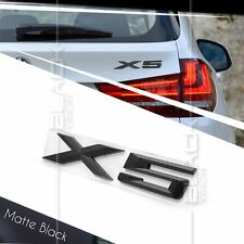 MATTE BLACK X5 REAR BOOT NUMBER EMBLEM BADGE FOR BMW E70 E53 X5 SUV X DRIVE