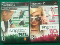 singstar (2 pack) singstar 90's + singstar 80's playstation2 new/sealed ps2