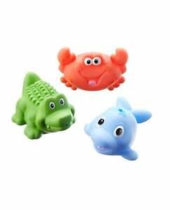 3x Nuby Baby Bath Toy Sea Animal Bath Squirting Toys Set / Boy & Girl / BPA FREE