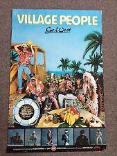 The Village People 1979 Go West Original Music Promo Poster 23x35 Disco Dancing