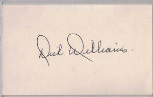 DICK WILLIAMS Auto/Autograph 3x5 Index Card HOF Athletics/Expos (1929-2011)