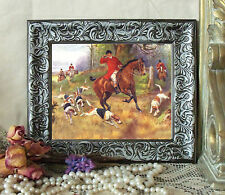 Drummond Horse Fox Hunt TALLY HO Print Style Framed 11X13 pony d pc fh