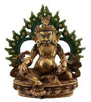 Libera Zambala Estatua Tibetano 18cm Cobre Nepal AFR12-4295