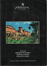 SEMENZATO - ASTA 1997 DI IMPORTANTI MOBILI, DIPINTI ANTICHI, OGGETTI D'ARTE