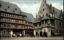 HALBERSTADT Sachsen-Anhalt um 1910 Rathauskeller Rathaus Fischmarkt Partie color