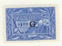 Canada Stamp Scott # O27 1-Dollar Fisherman G MNH