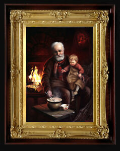"""Oil Painting PRINTED on Canvas Arseni ~ WINTER 26"""" X 18"""" Art NO FRAME Artist"""