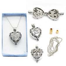 Memorial Locket Necklace Always in My Heart In Loving Memory Ash Urn Inside =22