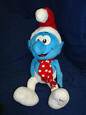 "MACY'S HOLIDAY 2010 Christmas SMURF  22"" stuffed plush toy"