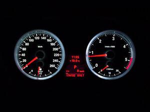 Tacho Umbau Rote Zeiger + Tachobeleuchtung passend für BMW E90 E91 E92 E93 X1 E8