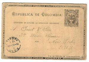 G54 Colombia USA ps postalcard tarjeta Socorro Santander P.o.n.y. cancel  1898