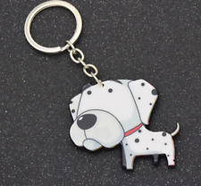 lovers Key Ring Girls Bag Pendant Fashion Cartoon Dalmatian Dog Key Chain Dog
