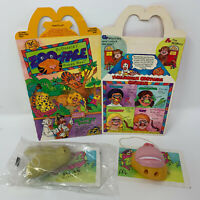 Vintage 1988 McDonalds Paas Zoo-Face Makeup Kit Happy Meal 1 Box 2 Toys 1980s