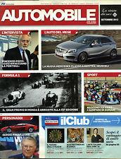 * AUTOMOBILE / SET./2012 * L'AUTO DEL MESE * SERGIO PININFARINA * FORMULA 1. . .