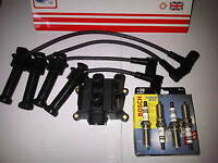 FORD MONDEO MK2 1.6 1.8 2.0 1998-00 IGNITION LEADS SET + COIL PACK & SPARK PLUGS