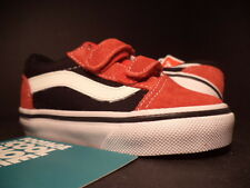Baby 2012 Vans OLD SKOOL V 5 TD STRAPS RED WHITE BLACK VN-0D3Y5SK NEW 5.5C 5.5